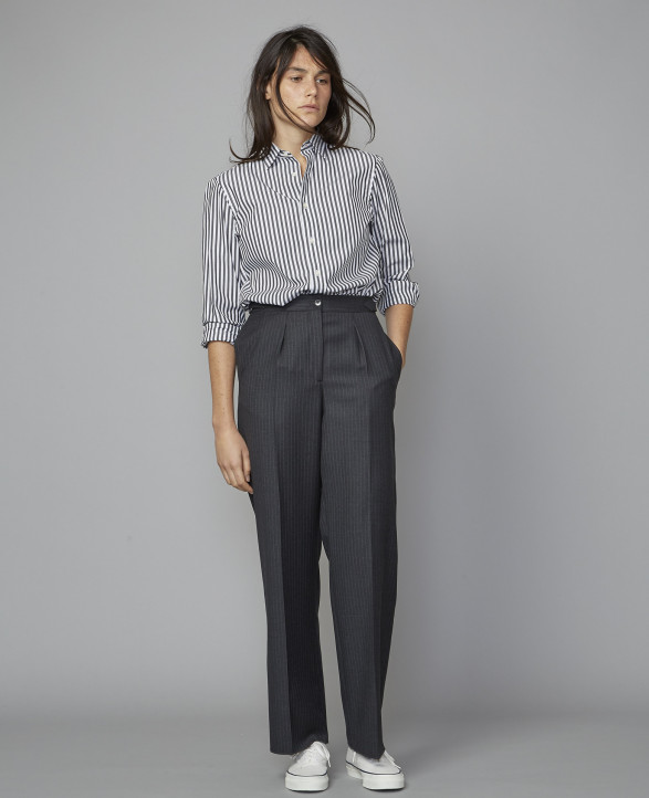 DIANA PTS ITL PIN STRIPES WO (GRIS)