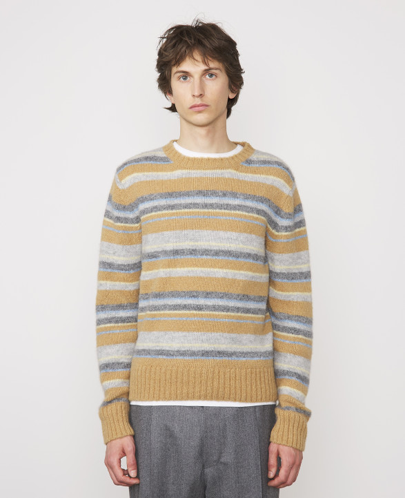 MARCO SWEATER (CAMEL/GREY/YELLOW)