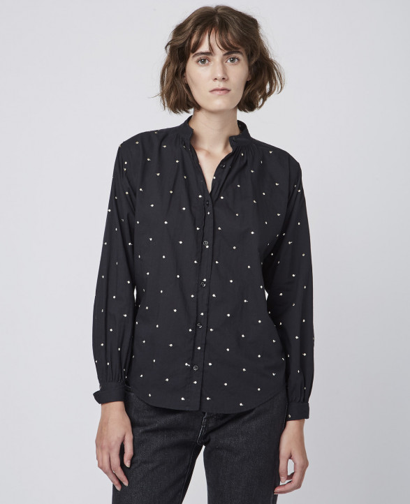 Nicole Shirt (BLACK GOLD)